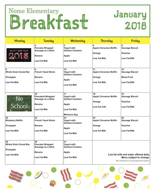 Ms  Stotts' Classroom / Monthly Breakfast and Lunch Menu