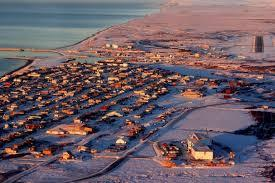 Aerial photo of Nome Alaska